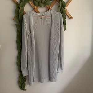 Athleta Gray Open Knit Mesh Wrap
